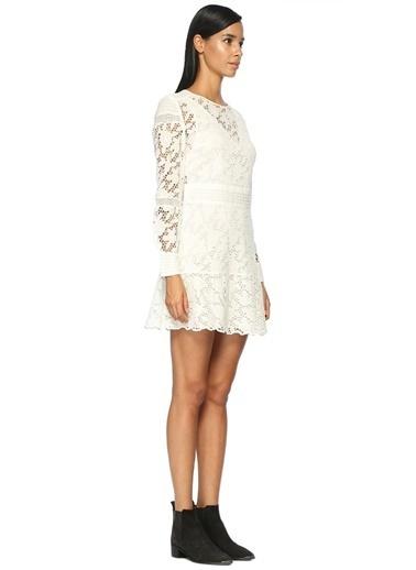 Çiçek Dantelli Mini Elbise-Ba&Sh